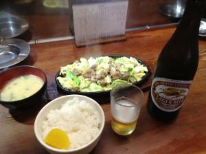 IMG_0795焼肉とビール